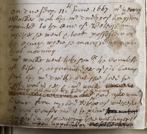 1667 entry in Petersham register